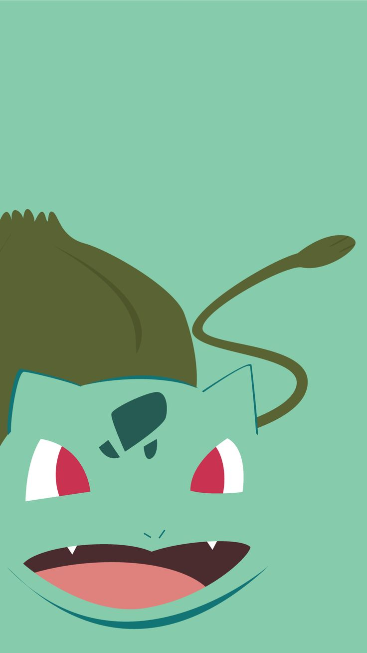 minimalistic pokemon go bulbasaur wallpaper mobile