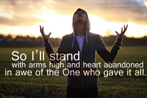 I'll stand. My soul Lord to you surrendered. All I am is Yours.
