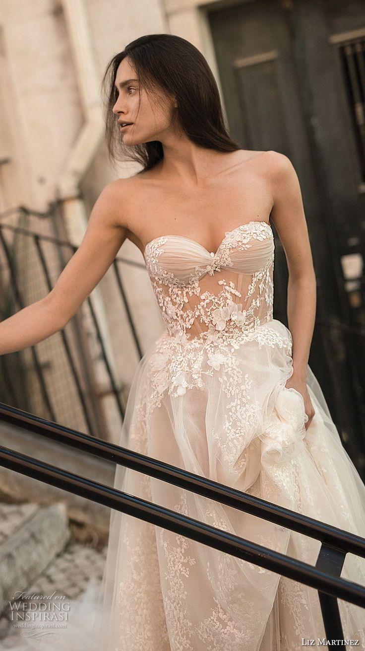 liz martinez 2018 lisbon strapless sweetheart neckline full embellishment romantic sexy soft a line wedding dress open back chapel train (10) zv -- Liz Martinez Wedding Dresses 2018