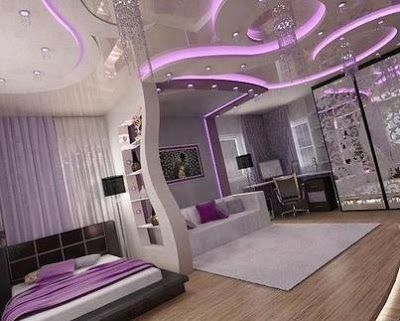 Modern Bedroom Purple 145 best gypsum board images on pinterest | ceilings, kids rooms