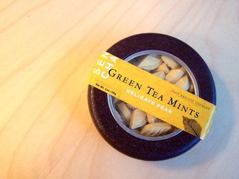 Sencha Green TeaMints - The Dieline -
