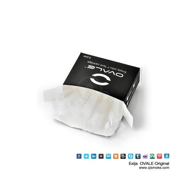 Cartucho tanques transparente eGo-C T de qualidade transparente Qismoke Ovale
