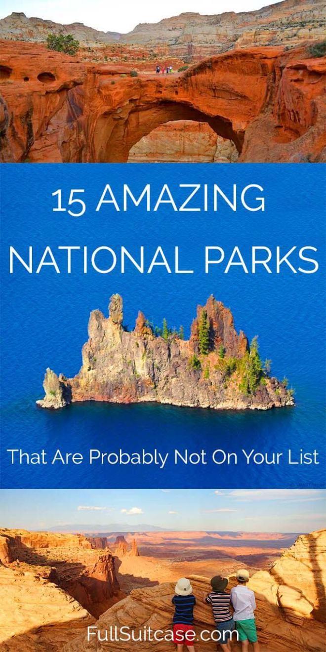 Hidden gems of American National Park Service - family travelers favorites #nationalparks #usa #familytravel