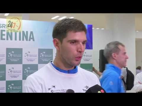 Reaction after Federico Delbonis defeated Croatian Ivo Karlovic in straight sets (27th November)