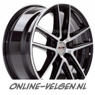 Platin P73 Zwart Gepolijst velg | Online-Velgen.nl