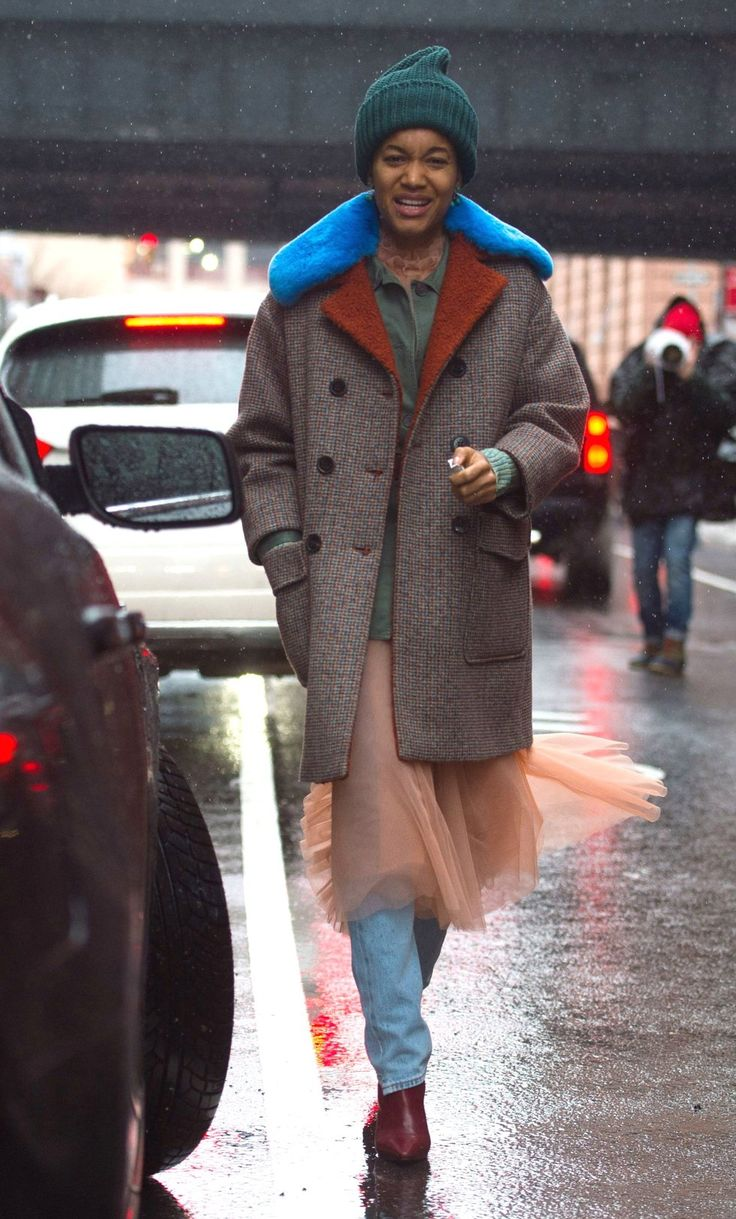 The new york vanity was named perfectly it has that city chic look - New York Fashion Week Street Style