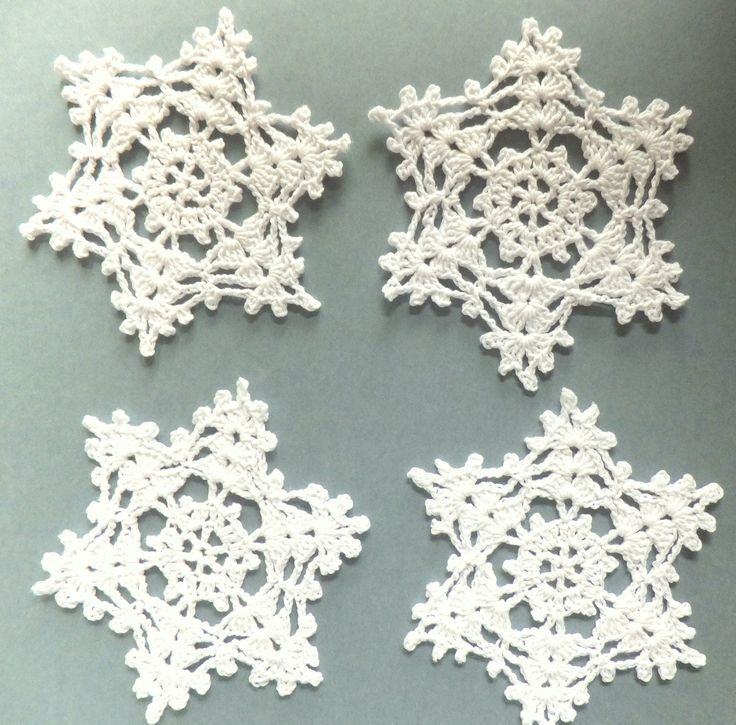 Christmas snowflakes, crocheted