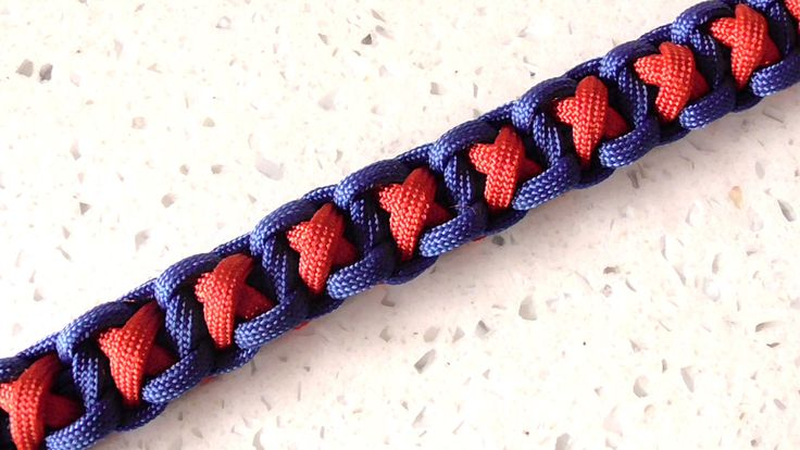 How To Tie The Hugs And Kisses (XOXO) Paracord Bracelet No Buckle