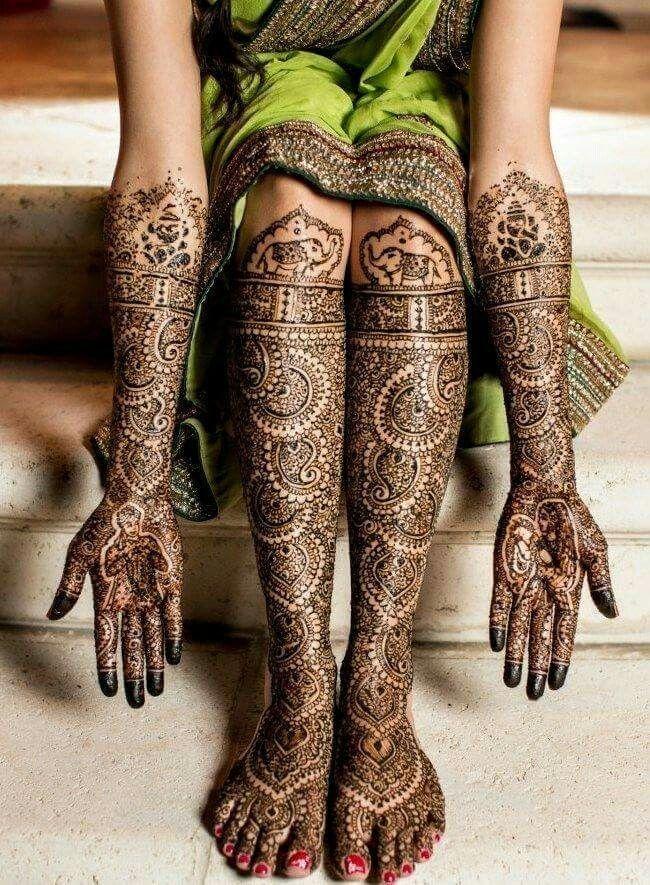 Beautiful bridal mehendi