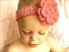 """Ravelry: """"Spring"""" Baby Headband pattern by Amy Andersen in Encore Worsted"""