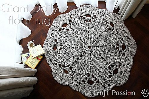 Ravelry: Giant Doily Rug pattern by Joanne Loh. Pattern is free on Ravelry.com