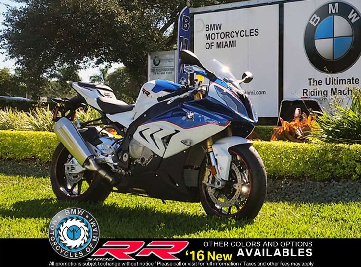 2016 BMW S 1000 RR - Light White / Lupin Blue Metallic / Racing Red