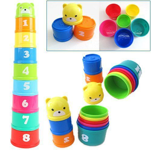 1Set Baby Toy Funny Small Learning Education Jenga Cup Toy Block Game for Kids Juguetes Educativos Toys