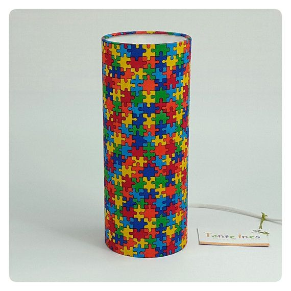Children bedside lamp  Puzzle by TanteInes on Etsy