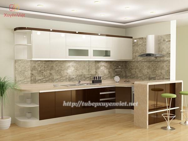 mẫu tủ bếp đẹp hiện đại nhà cô nguyệt hải phòng