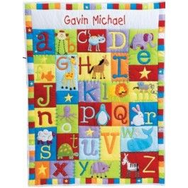 15 best personalised babies and christening gifts images on baby alphabet quilt primary colours i think i might have to learn quilting would love to make something like this negle Image collections