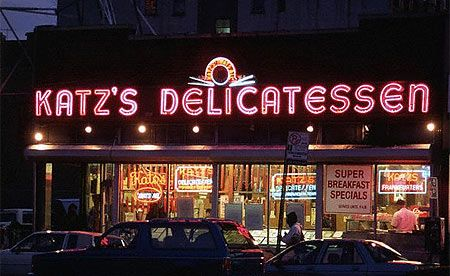 """Katz's! So my baby can have a """"real"""" Reuben Sandwich"""