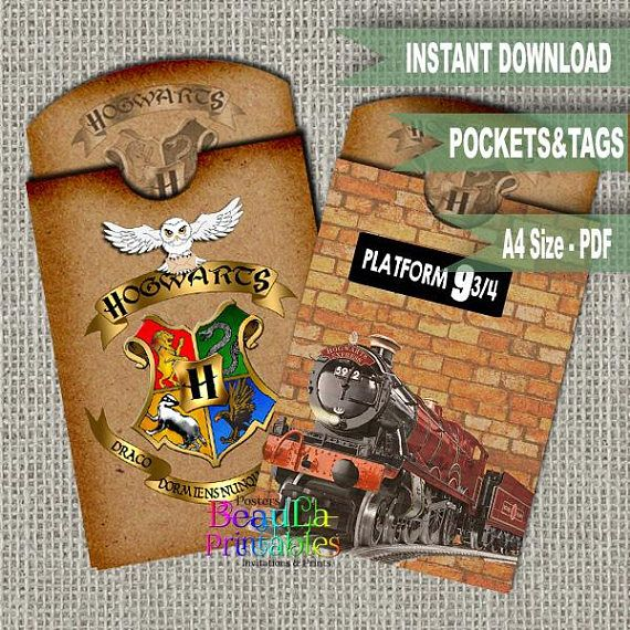 Harry Potter Pocket Tag Tag Pocket Template Printable Tag