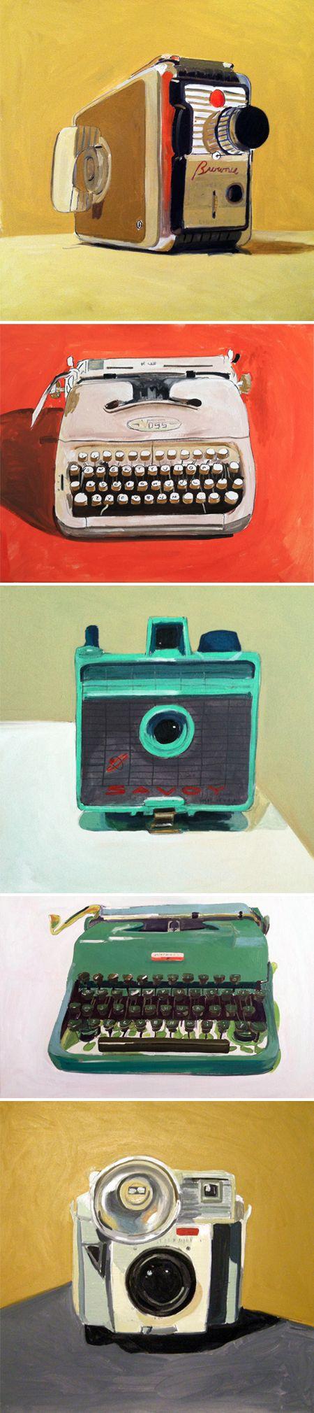 Cameras clássicas na ilustração de Jessica Brilli #cameras #illustration