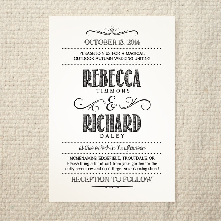 Handlettered Love / DIY Wedding Invitation Template