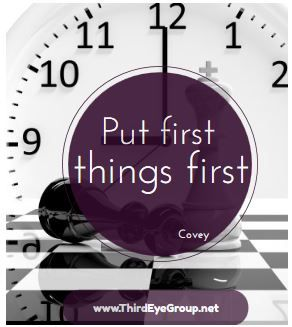 Put First Things First. Focus on long-term goals instead of things that are more urgent and less important and prioritize the work related to your long-term goals. This means that you have to end the madness of putting out fires every day and shift the focus to what matters.