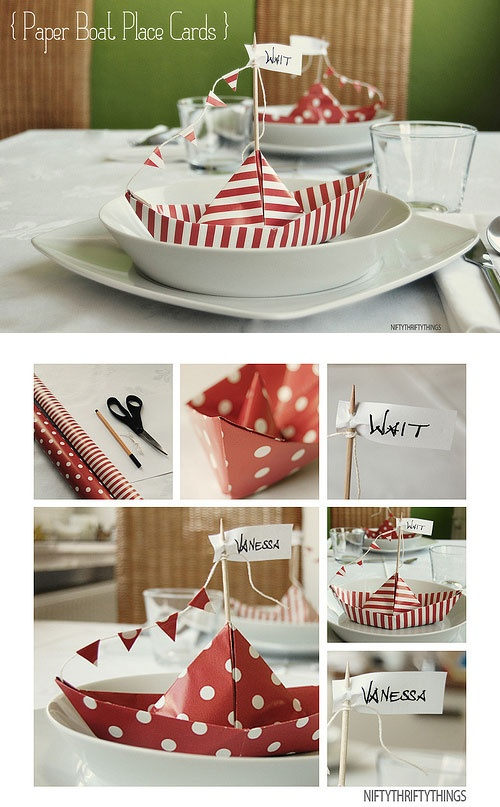 I want to make some of these too, wouldn't use them as place card holders though because we are not having assigned sitting, but they could be cute lifesaver holders for snacks