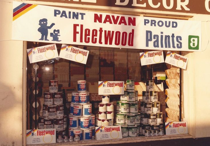 A store front we decorated for Home Decor Navan. 20 years on and we still have 'Everything from Start to Perfect Finish!'.