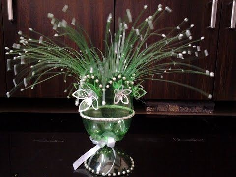Best Out Of Waste Plastic Fabulous Centre Piece - YouTube
