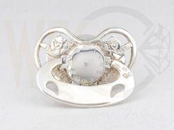 Smoczek srebrny w Misie / Dummy made from silver with teddy bears / 250 PLN / #jewellery #silver #dummy #gift #giftidea