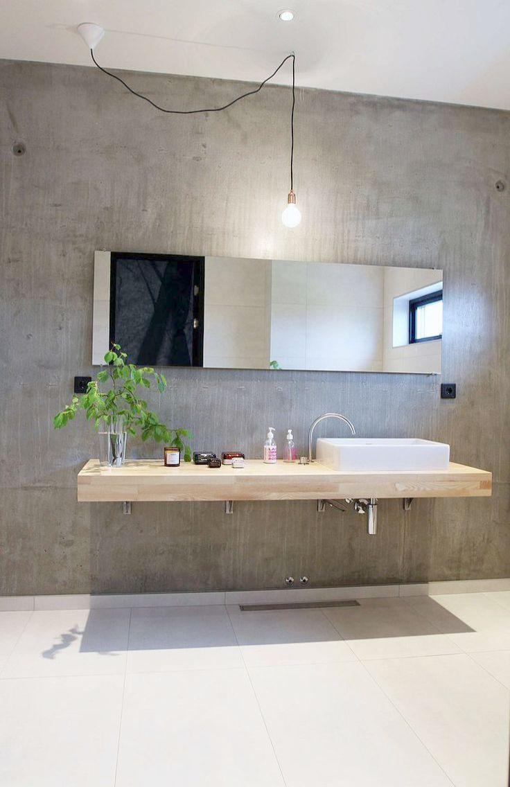Bathroom Remodel Ideas Before And After Yet Bathroom Vanities In Stock Near Me Into Modern Concrete Bathroom Design Industrial Bathroom Decor Concrete Bathroom