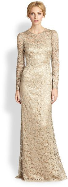 Dolce gabbana gold lace dress
