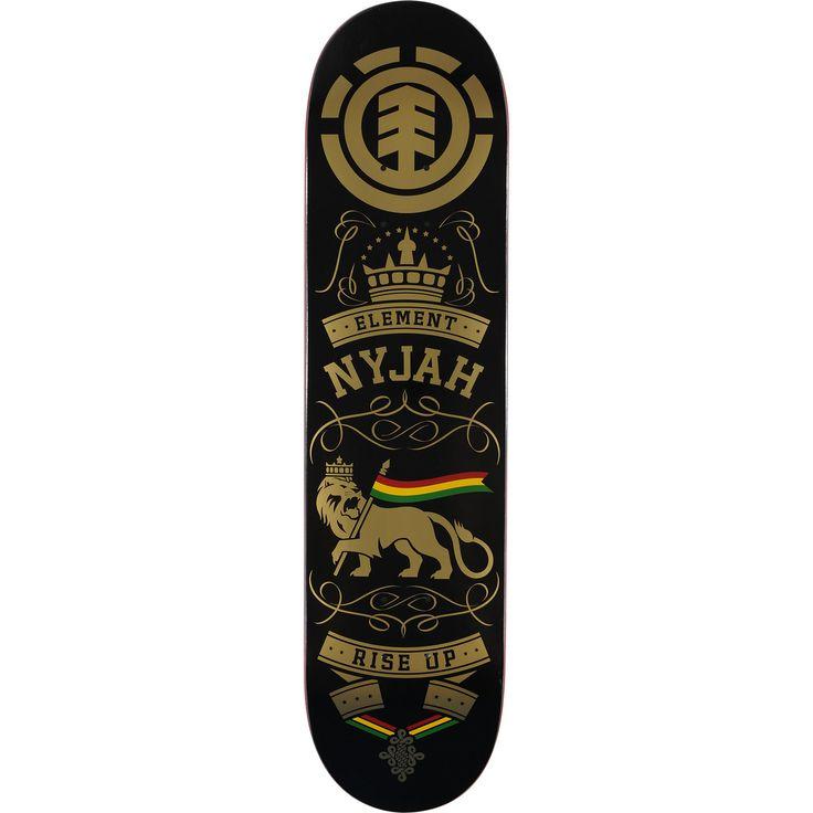 The Nyjah Huston 8.0 skateboard deck from Element Skateboards.