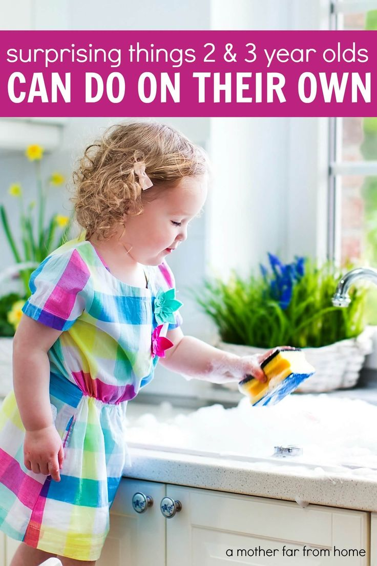 Chores 2 3 year olds can do on their own a big list