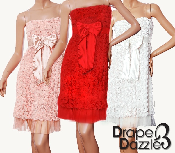 Rose Strapless Dress !  Only Red left  Size: 10-12  Only $29.95
