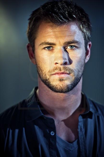 Chris Hemsworth short hair and beard