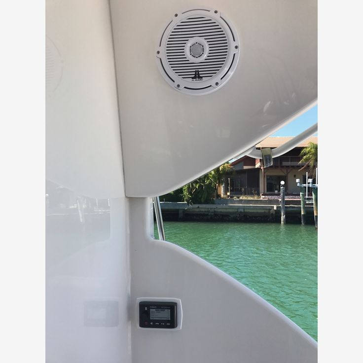 41 Bertram.JL Audio M series audio package with Fusion source unit and wired remotes. Linked to Denon surround AV receiver..#jlaudio #jlaudioinc #fusionmarine #bertramyachts #sportyachts #cruisers #yachts #miaboats #springbreak #summer17 #audiospecialists #audiomarine #friday  Repost from our friends @audiomarine #thomasville #Tallahassee #lakecity #fancy #supercars #boss #luxury