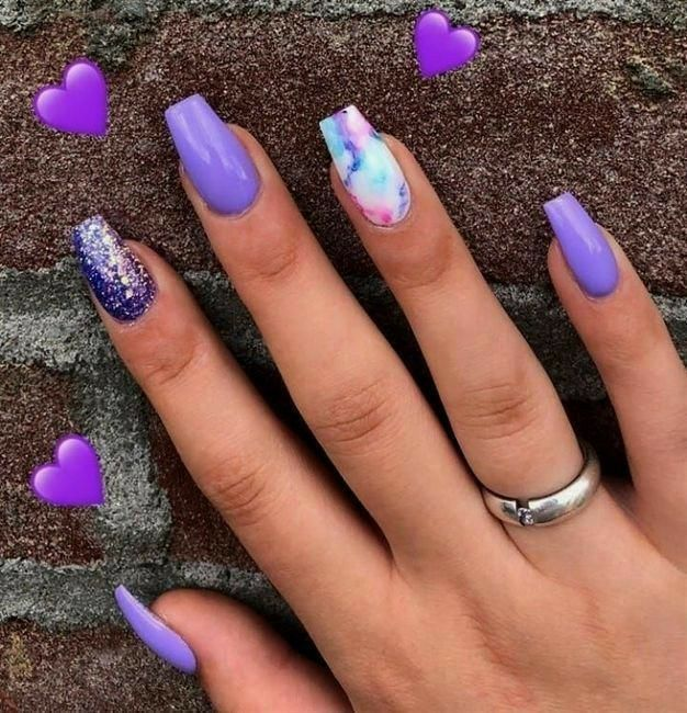Purple Nails And Watercolor In 2020 Summer Nails Colors Purple Nails Nail Colors