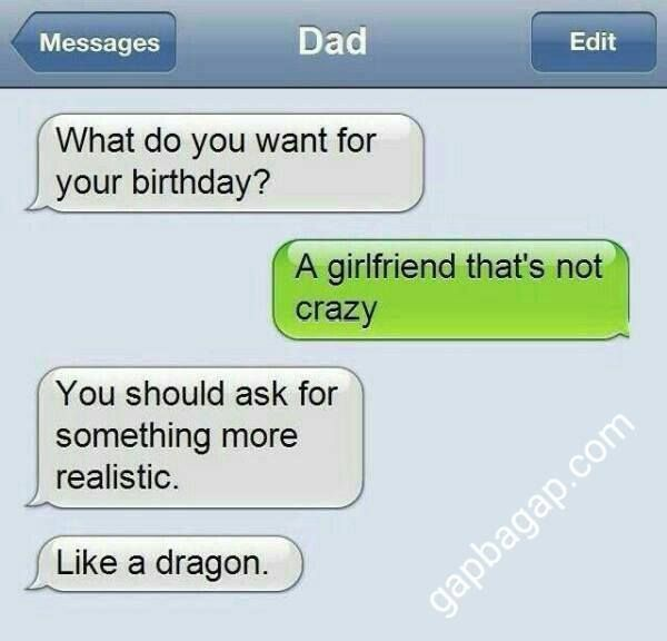 Funny Text About Birthday vs. Girlfriend