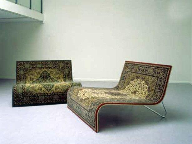 Diseño industrial: desafiantes muebles capaces de marcar tendencia muebles sillón tapete persa