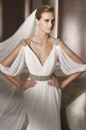 30 Flowing Grecian-Styled Wedding Dresses   HappyWedd.com