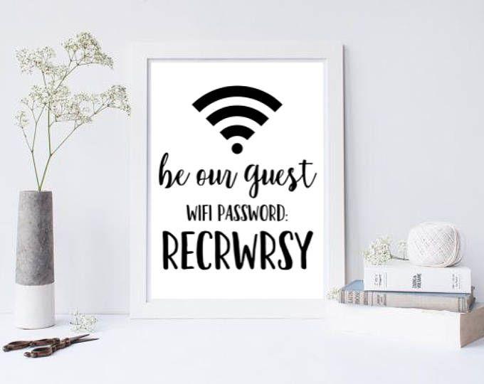 Seien Sie unser Gast - Wifi Passwort