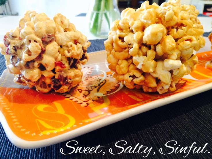 Popcorn with caramel and marshmallows , Popcorn with marshmallows and dried cranberries. https://www.facebook.com/sweet.salty.sinful
