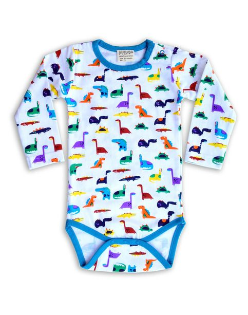 Dactur dinosaur baby body in Organic Cotton