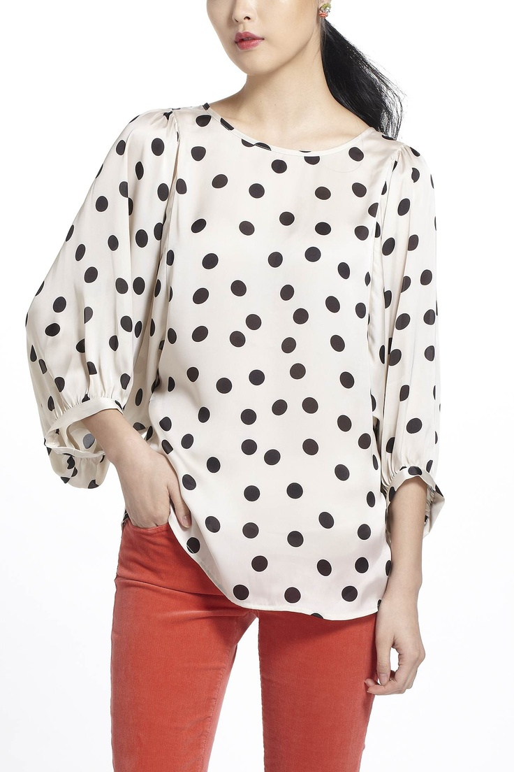 spotty blouse from anthroMonochrome Blouses, Fashion, Polka Dots, Blouses Anthropologie, Clothing, Anthropologie Blouses, Anthropologie Com, Dottie Monochrome, Dreams Closets