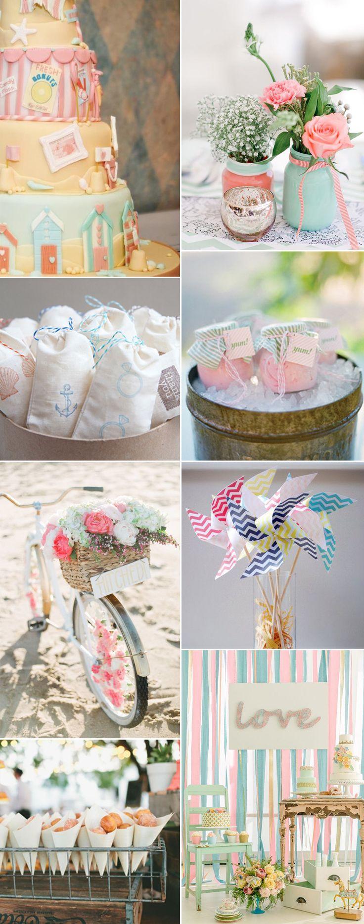 A quintessential seaside wedding - for more British seaside wedding ideas take a look at GS Inspiration | Glitzy Secrets