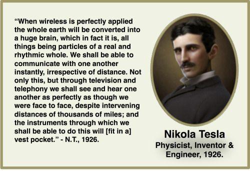 Nikola Tesla Describes A Modern Smartphone... In 1926!