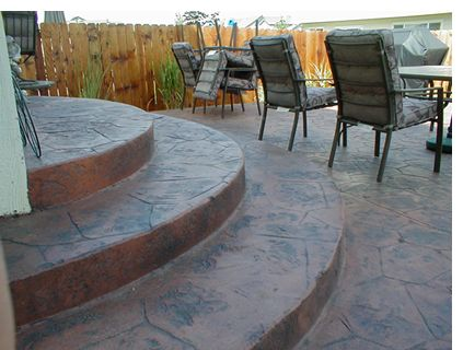 Best Concrete Oval Steps Backyard Even Rounded Stairs Are 400 x 300
