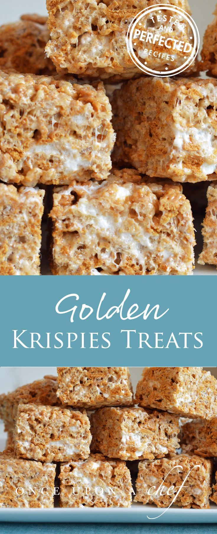 Chewy, Gooey Golden Rice Krispies Treats