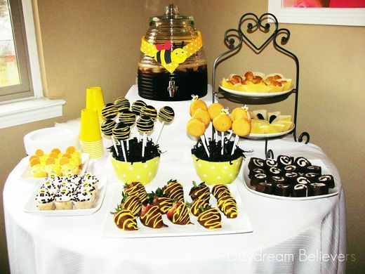 bumble bee spring baby girl baby shower baby shower party ideas