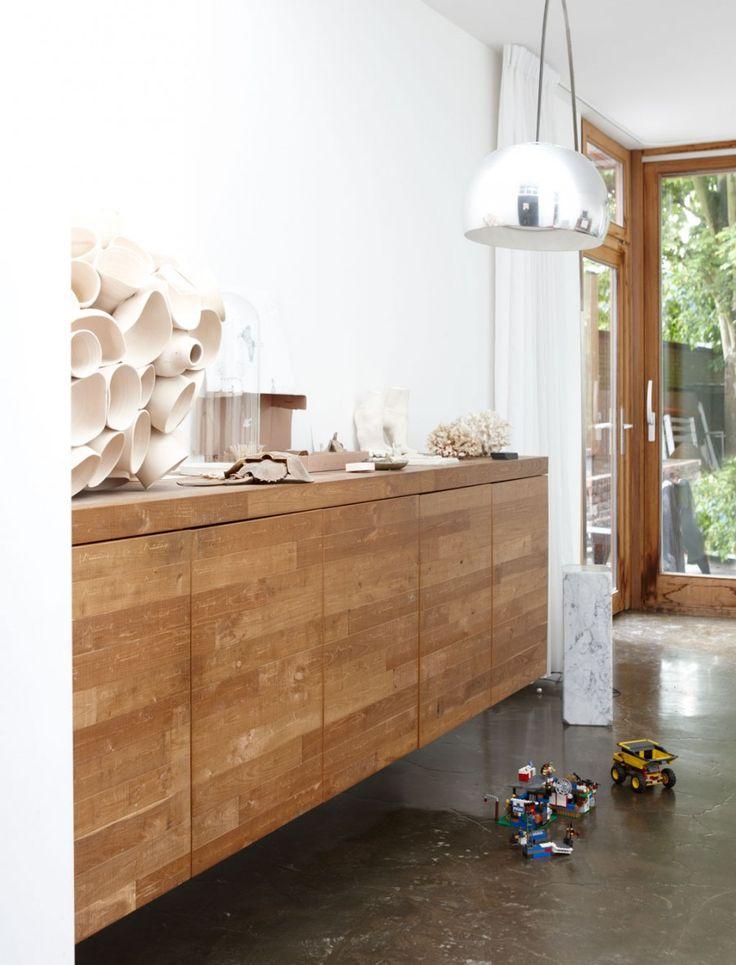 Gebruik mooie houtsoorten in huis.